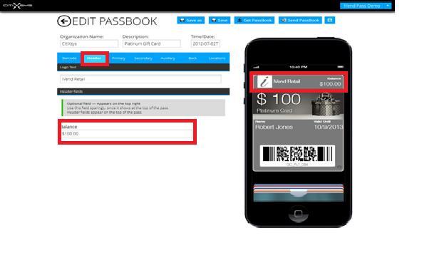 Edit Passbook