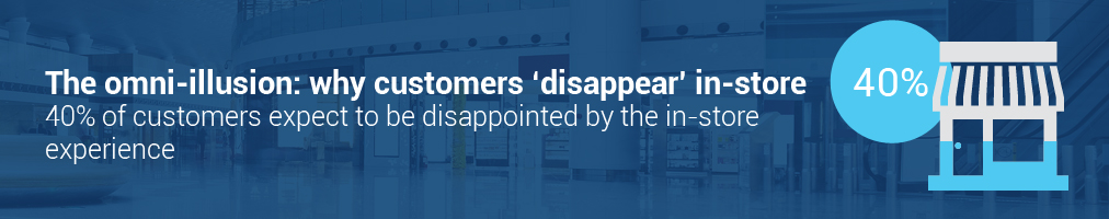 The omni-illusion: why customers 'disappear' in-store: 40% of customers expect to be disappointed by the in-store experience
