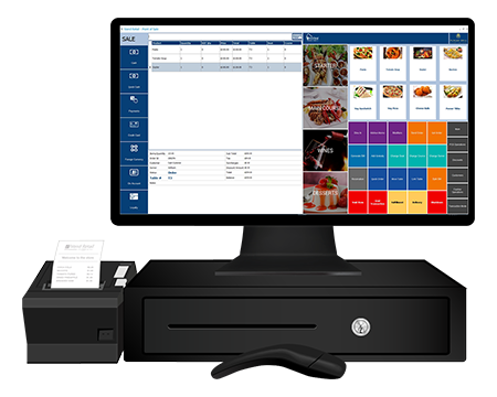 iVend Hospitality software on a terminal POS